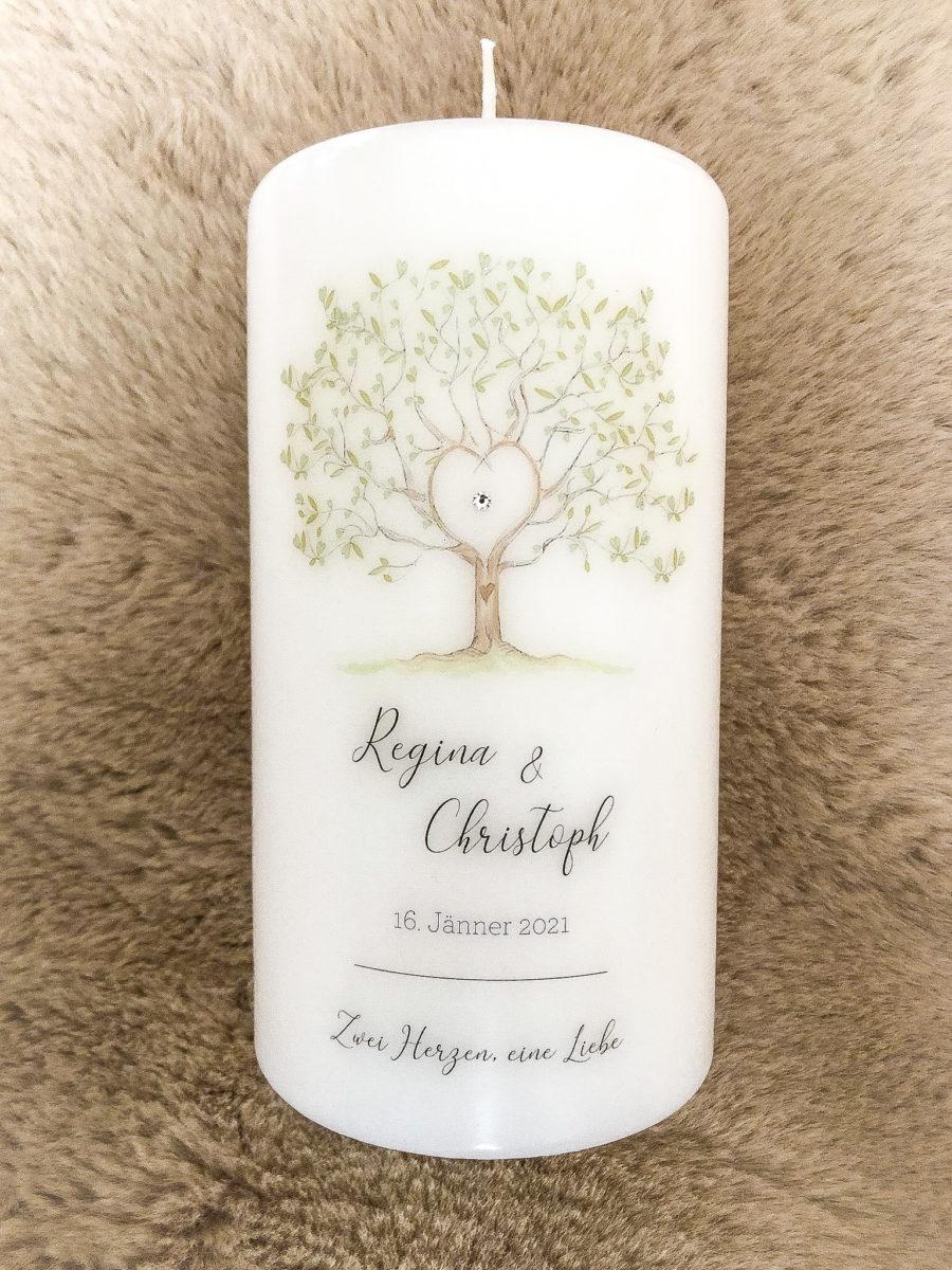 Hochzeitskerze Lebensbaum